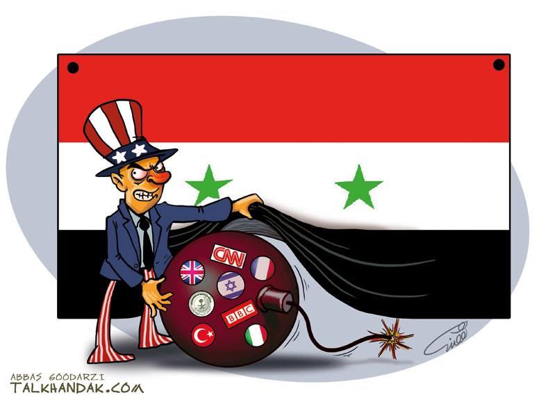 Suriyede yaşanılan meselenin aslı...(Karikatür)