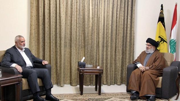 Haniye ve Nasrallah, İsrail'e karşı 'nihai zafer' elde etmenin yollarını tartıştı