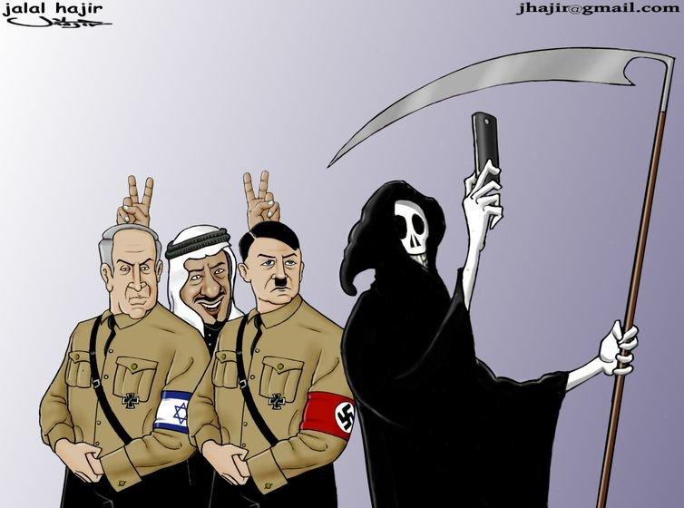 Suudi Kralı Salman bin Abdülaziz zulümde Netanyahu ve Hitlere taş çıkartıyor