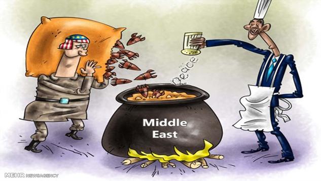 Ortadoğu'da Amerikan tarzı barış ve istikrar!!  width=