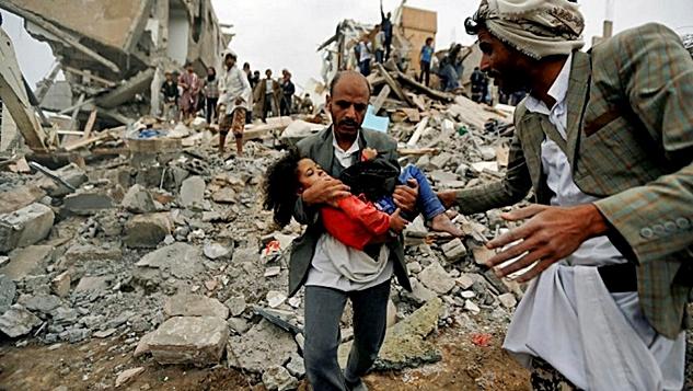 Yemen bombardımanını durdurun width=
