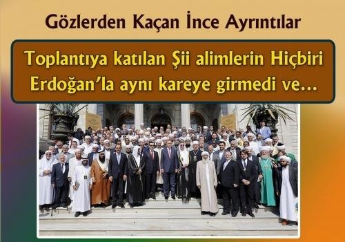 Erdoğan'ın mezhepçi söylemlerinden rahatsız olan Şii alimler aynı kareye girmediler