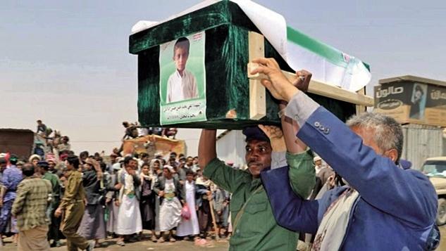 Yemenli sivilleri öldüren Suudi bombaları, Körfez'de savaş gerilimlerini arttırıyor width=
